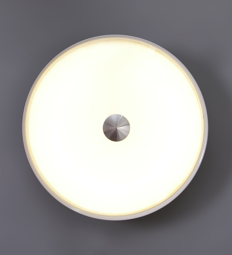 Jainsons Emporio White Glass Flush Mounted Light