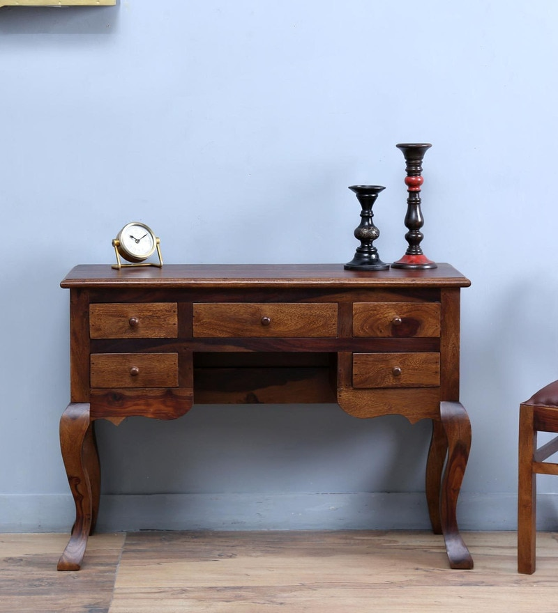Jasper Console Table in Provincial Teak Finish by Amberville