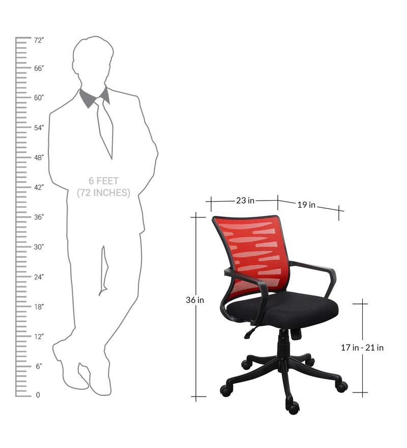 Buy Jazz High Back Ergonomic Chair In Black Amp Red Colour