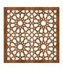 Brown Acrylic with Wooden Lamination Circular Room Divider by Planet Decor