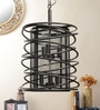 Black Aluminium Pendant by Jainsons Emporio