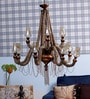 Brown Rope and Glass Chandelier by Jainsons Emporio