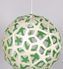 David Trubridge Green & Silver Bamboo Pendant Light by Jainsons Emporio