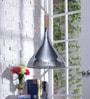Kasen Silver Metal Pendant Lamp by Jainsons Emporio