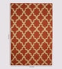 Jaipur Rugs Merlot Red Wool 60 x 96 Inch Abstract Area Rugs