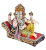 JaipurCrafts Multicolor Polyresin Lord Ganesha with LED Lights Showpiece