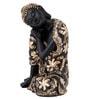 JaipurCrafts Black Polyresin Gautam Buddha Premium Statue