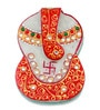 JaipurCrafts Multicolor Stoneware Lord Ganesha Roli Tikka Chopra Showpiece