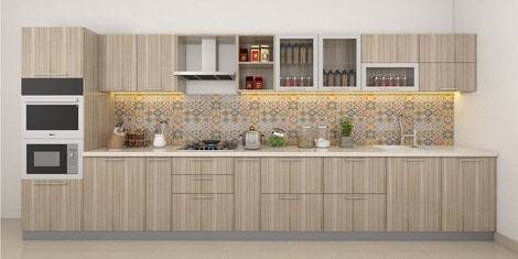 Straight Modular Kitchen Buy Straight Modular Kitchen Online In India At Best Prices Modular Kitchens Pepperfry
