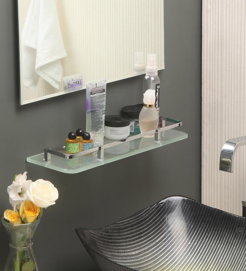 Jest Transparent Glass Bathroom Shelf