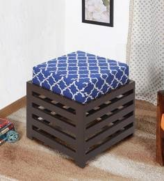 Jinjer Contemporary High Rise Stool In Indigo Colour