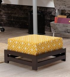 Jinjer Contemporary Low Stool In Ochre Colour