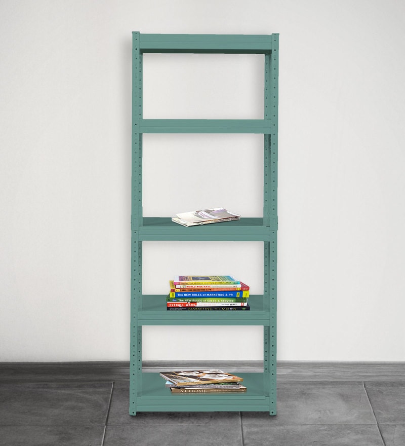 Jin Display Unit cum Book Shelf in Green Finish by Mintwud