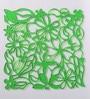 Green Plexi Glass Stylish Designer Screen Dividers - Set of 10 by JILDA