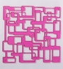 Jilda Pink Plexi Glass Artistically Designer Screen Dividers - Set of 10