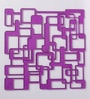 Jilda Purple Plexi Glass Artistically Designer Screen Dividers - Set of 10