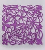 Jilda Purple Plexi Glass Stylish Designer Screen Dividers - Set of 10