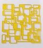 Jilda Yellow Plexi Glass Designer Screen Dividers - Set of 10