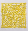Yellow Plexi Glass Stylish Designer Screen Dividers - Set of 10 by JILDA