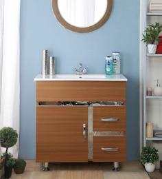 JJ Sanitaryware Aluminium Dark Brown Bathroom Vanity (Model:JJv-15)