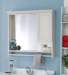 JJ Sanitaryware Aluminium White Oak Bathroom Cabinet (Model:Gac-1)