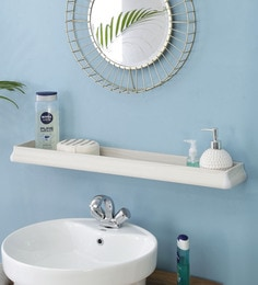 JJ Sanitaryware Aluminium White Oak Bathroom Shelf (Model:Bs-4)
