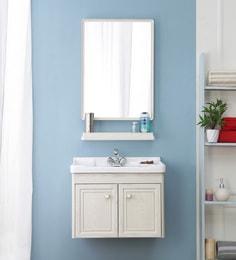 JJ Sanitaryware Aluminium White Oak Bathroom Vanity (Model:JJv-1)