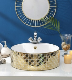 JJ Sanitaryware Ceramic Golden Wash Basin (Model:JJb-48)
