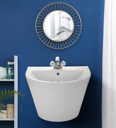 JJ Sanitaryware Ceramic White Bathroom Wash Basin - 1674997