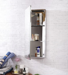 JJ Sanitaryware Lara Stainless Steel Bathroom Mirror Cabinet at pepperfry