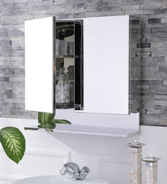 Leonardo Stainless Steel Bathroom Mirror Cabinet