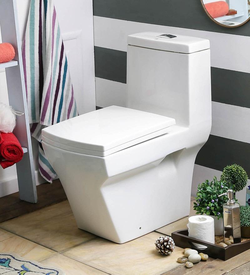 JJ Sanitaryware Alberta 200 mm White Ceramic Water Closet
