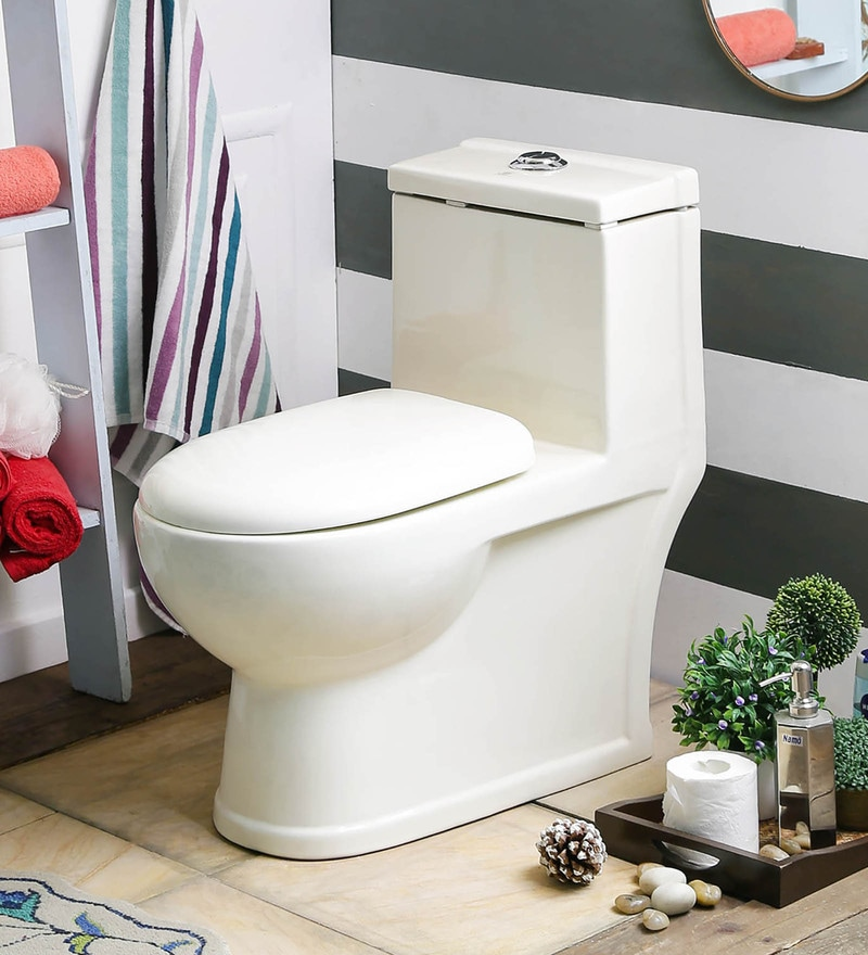 JJ Sanitaryware Albina 100 mm Ivory Ceramic Water Closet