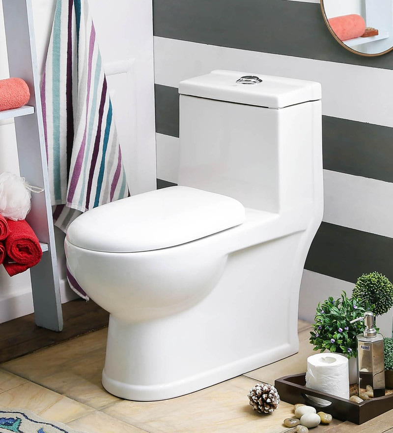JJ Sanitaryware Albina 100 mm White Ceramic Water Closet