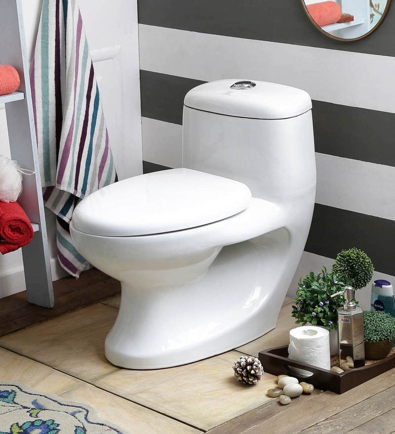 JJ Sanitaryware Antonio 300 mm White Ceramic Water Closet