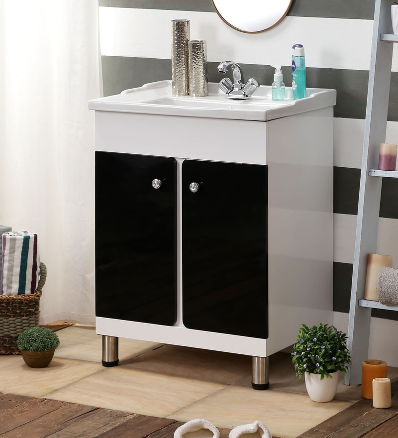 JJ Sanitaryware Black & White PVC Vanity (Model: Aarya 334)
