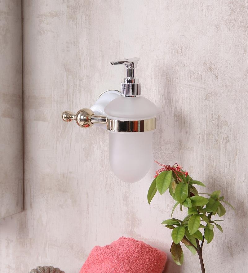 JJ Sanitaryware 1810 Golden White Brass Soap Dispenser
