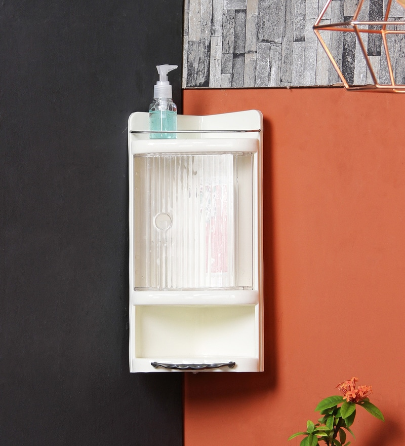 Ivory Plastic Bathroom Cabinet by JJ Sanitaryware