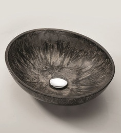Joyo Cera Designer Smokey Black Wash Basin