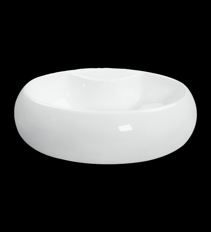 Johnson Compact-Ct White Ceramic Wash Basin