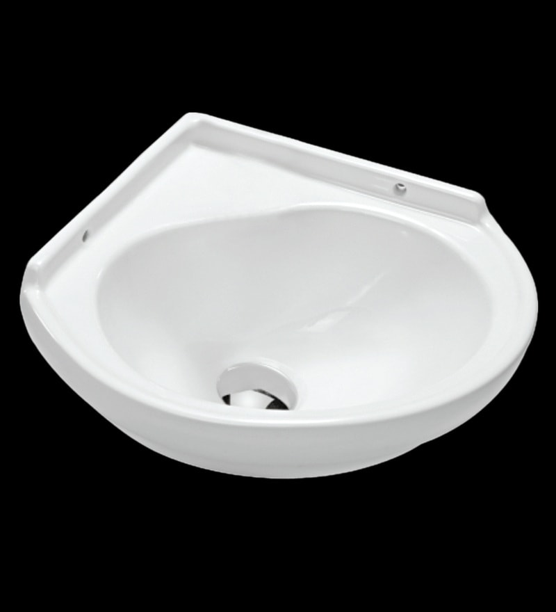 Johnson Ruby Corner-Wb White Ceramic Wash Basin