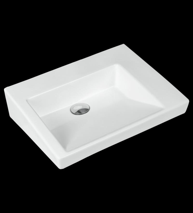 Johnson Slide-Wb White Ceramic Wash Basin