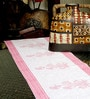 Jodhaa Floral And Paisley White And Pink Cotton Table Runner