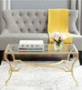 Johnson Inga Alphons Coffee Table in Golden Colour by Asian Arts