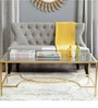 Johnson Inga Coffee Table in Golden Colour by Asian Arts