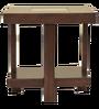Joss Veener Side Table in Dark Walnut Colour by HomeTown