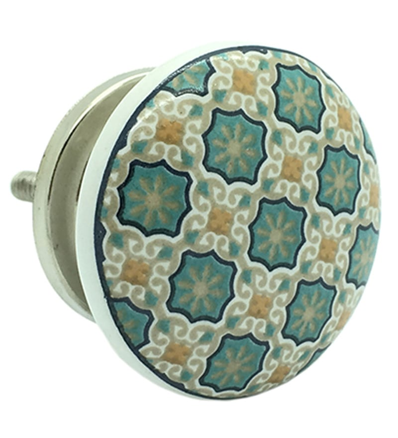 JP Hardware Multicolour Ceramic 1.5 Inch Door Knobs - Set of 4 (Model No : JP4584)