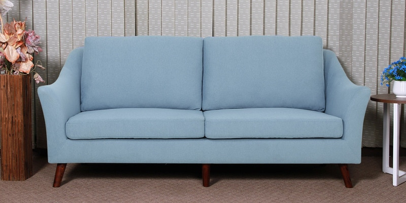 Juan Three Seater Sofa in Ice Blue Colour by CasaCraft