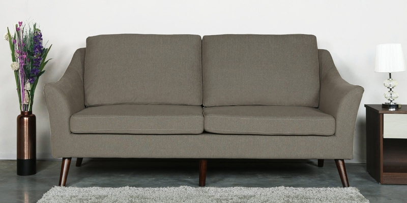 Juan Three Seater Sofa in Sandy Brown Colour by CasaCraft