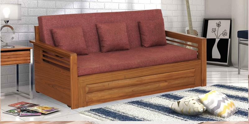 Buy Cayenne X Design Solid Wood Storage Sofa Cum Bed By Woodsworth